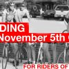 Group Riding Clinic Nov. 5th @ 5:30pm